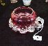 Sale 7346 - Lot 30 - A RUBY GLASS HOLDER