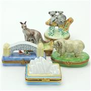 Sale 8390A - Lot 43 - Limoges Australian Themed Novelty Pill Boxes