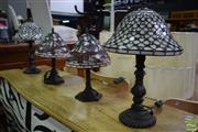 Sale 8550 - Lot 1501 - Two Pairs of Leadlight Table Lamps