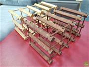 Sale 8637 - Lot 1019 - Pair of Timber Wine Racks
