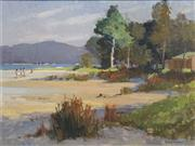 Sale 8711 - Lot 2085 - R A Simpson - Low Tide, Careel Bay 29 x 39.5cm