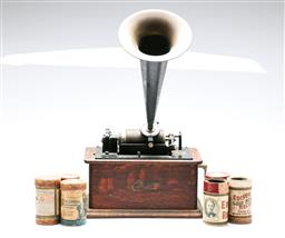 Sale 9093 - Lot 84 - Edison Standard Phonograph With Horn And 6 Rolls