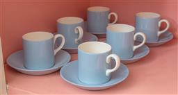 Sale 9120H - Lot 132 - A set of six Wedgwood cups and saucers in the Summer Sky pattern