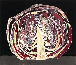 Sale 9244 - Lot 526 - CRESSIDA CAMPBELL (1960 - ) Red Cabbage, 1985 colour woodblock print ed. 1/4 41 x 48 cm (frame: 62 x 65 x 2 cm) signed and dated low...