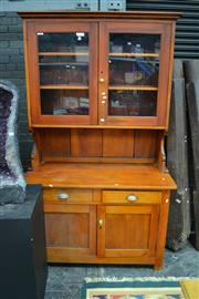 Sale 8013 - Lot 1013 - Bookcase w 2 Glass Doors (Combined, see item 29, Buffet & Hutch, Top & Bottom Booked as 2 Separate Items, JMC 2/9/14)
