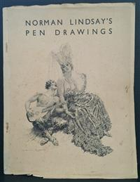 Sale 8176A - Lot 44 - Norman Lindsay   Pen Drawings.  Art in Australia. 1931. Sixty-four plates, black and white. Paper covers with drawing on cover.