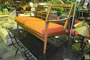 Sale 8227 - Lot 1094 - Teak 2 Seater Lounge - Cushions to Back Missing