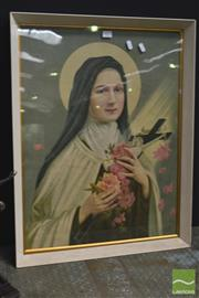 Sale 8326 - Lot 1097 - Well Framed Vintage Religious Print