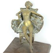 Sale 8390A - Lot 21 - Erotic Yellow Metal Cast Figure