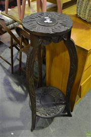 Sale 8566 - Lot 1653 - Carved Oriental Plant Stand (108)