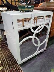 Sale 8589 - Lot 1033 - Mirrored Front Bedside Cabinet (76 x 61 x 46.5cm)
