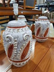 Sale 8697 - Lot 1626 - Pair of Handmade Rinascimento Table Lamps (H 55cm)