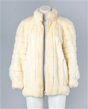 Sale 8830C - Lot 50 - A White Mink Jacket By Christian Dior For Hammerman Furs, Size Medium