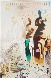 Sale 9078A - Lot 5037 - Salvador Dali (1904 - 1989) - Untitled (Classical Figure in Ampitheatre) 64 x 48.5 cm (frame: 110 x 87 x 3 cm)