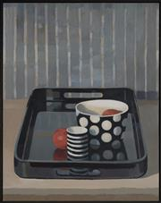 Sale 9084A - Lot 5113 - Jane Chandler - Lacquered Tray, 2012 71 x 56 cm (frame: 73 x 58 x 4 cm)