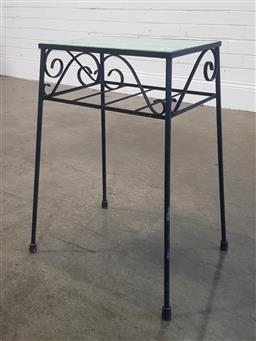 Sale 9188 - Lot 1372 - Glass Top Side Table
