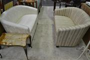 Sale 8156 - Lot 1071 - 2 Un-matching Upholstered 2 Seater Sofas