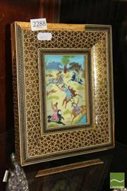 Sale 8217 - Lot 46 - Persian Painted Panel