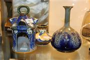 Sale 8276 - Lot 91 - Gouda Burner, Another Vase & a Doulton Lambeth Vase (AF)