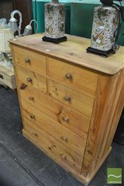 Sale 8328 - Lot 1060 - Pine Chest Seven Drawers