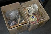 Sale 8346 - Lot 2428 - 2 Boxes of Sundries & Home Wares incl. Ceramics & Glass