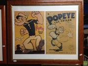 Sale 8622 - Lot 2066 - Double Popeye Posters