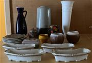Sale 8510A - Lot 83 - A large quantity of assorted ceramics, height of tallest 35cm