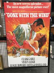 Sale 8726 - Lot 2095 - Mounted Gone with the Wind, poster