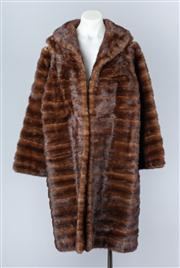 Sale 8828F - Lot 28 - A Ranch Mink Full-Length Coat By Hammerman Furs, Size Large (A/F)