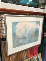 Sale 8853 - Lot 2056 - Artist Unknown - Misty Canopy 1989 watercolur, 79 x 97cm (frame), signed/dated -