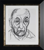 Sale 8908A - Lot 5009 - Desiderius Orban (1884 - 1986) - Portrait of an Old Man, 1966 29.5 x 24 cm
