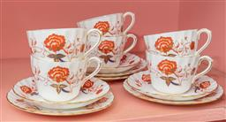 Sale 9120H - Lot 134 - A part set of Royal Crown Derby tea cups and saucers.  some damage.