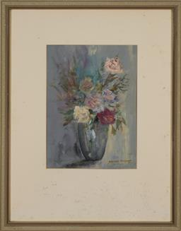 Sale 9176 - Lot 2066 - STEPHEN TANDORI (1936 - ) Roses oil on paper 30 x 21.5 cm (frame: 56 x 44 x 2 cm) signed lower right