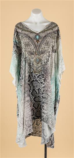 Sale 9260H - Lot 379 - An Iona 100% silk kaftan with embellishments to front, size XXL.