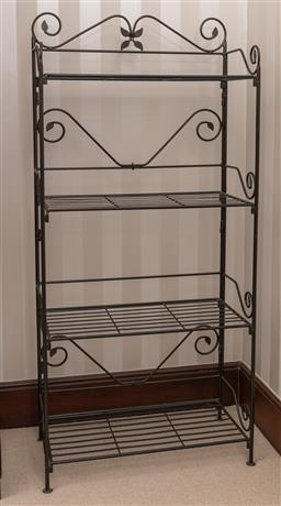 Sale 9260M - Lot 94 - Tiered wrought iron bakers stand H 134cm W 83cm D 41cm