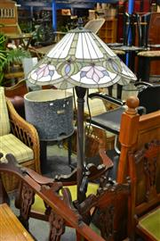 Sale 7987A - Lot 1107 - Leadlight Shade Standing Lamp