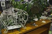 Sale 8227 - Lot 1079 - Fish Garden Feature, Magazine Rack and Candleholder (3)