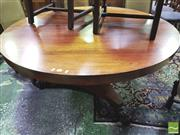 Sale 8428 - Lot 1025 - William IV Rosewood Supper Table, the tilt-top on inverted pedestal with acanthus carving & triform base on paw feet (crack to top)