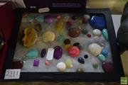 Sale 8497 - Lot 2311 - Miniature Cabinet of Cut Gemstones