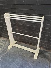 Sale 8962 - Lot 1098 - Painted Timber Towel Rail (H:91cm)