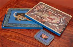 Sale 9108H - Lot 89 - An assortment of placemats and coasters.