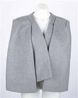 Sale 9095F - Lot 97 - A Thurley grey wool mix cape, size large.