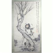 Sale 8258 - Lot 61 - Wang Zhen Signature Watercolour Scroll of Zhongkui
