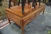 Sale 8323 - Lot 1026 - Chinese Rosewood Three Drawer Coffee table