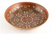 Sale 8536 - Lot 87 - A Ching style red glazed dish, decorated with gourd, mark to base, D 17cm
