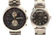 Sale 8564 - Lot 319 - SEIKO AND RICOH GENTS WRISTWATCHES; Seiko chronograph ref 6138 - 0011 with 2 registers, day date, 21 jewell automatic 6138B movemen...