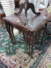 Sale 8566 - Lot 1209 - Nest of 3 Tables over Cabriole Legs