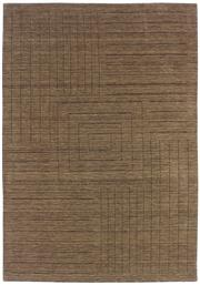 Sale 8651C - Lot 27 - Colorscope Collection; Wool And Viscose - Taupe/Lines Modern Handloomed Rug, Origin: India, Size: 160 x 230cm, RRP: $1299
