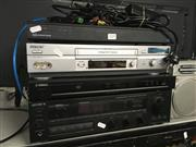 Sale 8759 - Lot 2172 - Crestron Media Processor, Sony VHS Player, Sony Receiver & Yamaha DVD Player (4)