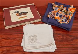 Sale 9108H - Lot 90 - A group of placemats and napkins.